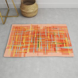 Abstract Orange Terminal Rug