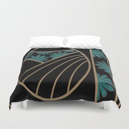 ART DECO FLOWERS (abstract) Duvet Cover