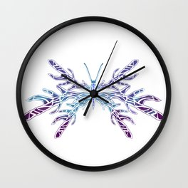 Blue Bug Wall Clock