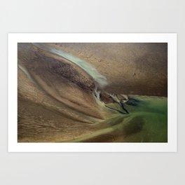 Rio Chame, aerial fine art photography, Panama Art Print