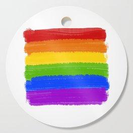 Rainbow Pride Flag Cutting Board