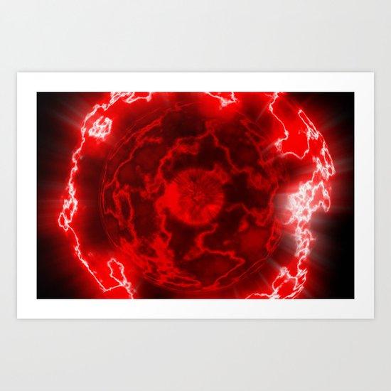 Red Nova Art Print