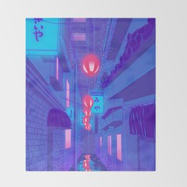 Shibuya Nights Throw Blanket