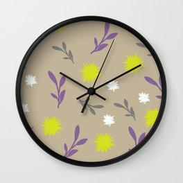 Floral pastel Wall Clock