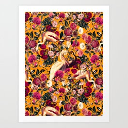 FLORAL AND BIRDS XVI Art Print