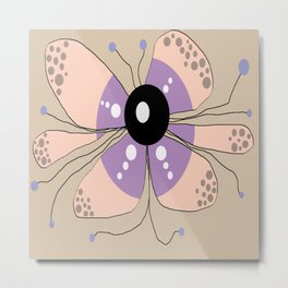 FLOWERY SELMA / ORIGINAL DANISH DESIGN bykazandholly Metal Print