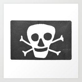 Pirate flag Art Print