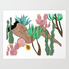 Garden Nap Art Print