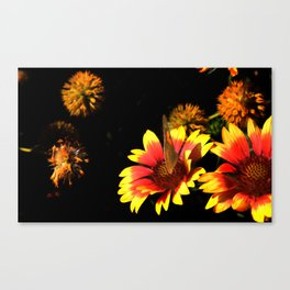 Flowers & Butterfly Canvas Print