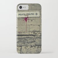 police iPhone & iPod Cases featuring Police by GautCheezzz