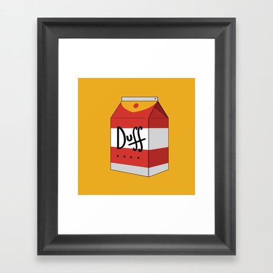 Duff in a box Framed Art Print