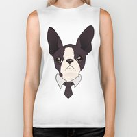 boston terrier Biker Tanks featuring Boston Terrier by brit eddy
