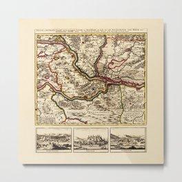 Map Of Belgrade 1717 Metal Print
