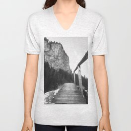Stairway to moutains Unisex V-Neck