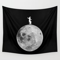 lunar Wall Tapestries featuring Lunar balance by Tony Vazquez
