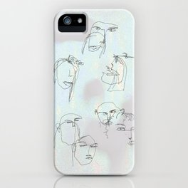 blurred faces iPhone Case