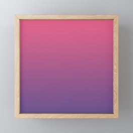 Bright Pink Ultra Violet Gradient | Pantone Color of the year 2018 Framed Mini Art Print
