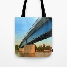 Bridge across the river Danube | architectural photography Tote Bag