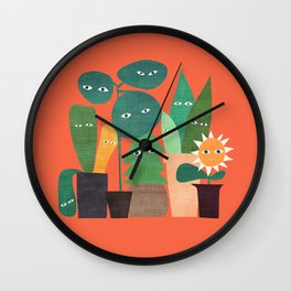 The plants are watching (paranoidos maximucho) Wall Clock