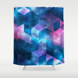 Geometrical shapes Shower Curtain