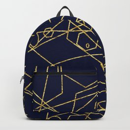 Geo Gold Blue Abstract Backpack