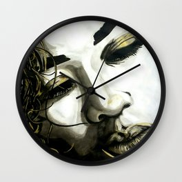 DeMarie [BLACK WHITE AND A LITTLE GOLD COLLECTION] Wall Clock