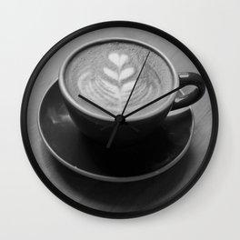 Cappuccino Heart Wall Clock