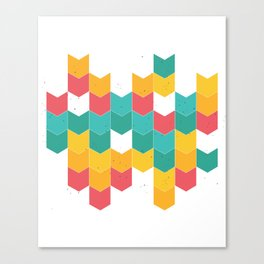 Colorful chevrons Canvas Print