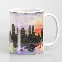 new york Mugs featuring new York  new York  by mark ashkenazi