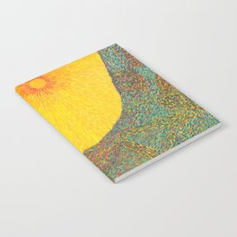 Here Comes the Sun - Van Gogh impressionist abstract Notebook