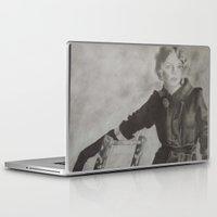pin up Laptop & iPad Skins featuring Pin Up by Chrystal Santos