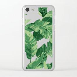 Tropical banana leaves IV Clear iPhone Case