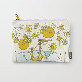 vitamin sea // mother love // retro surf art by surfy birdy Carry-All Pouch