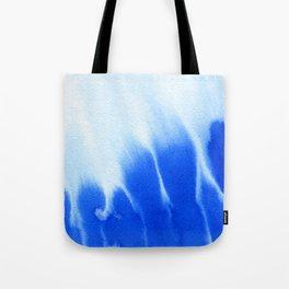 Blue ocean watercolor texture Tote Bag
