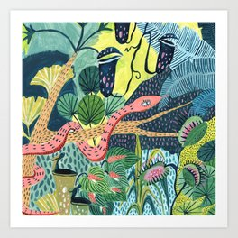 Jungle Snakes Art Print