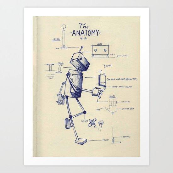The Anatomy Of A Robot Art Print