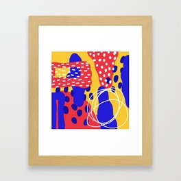 organic shapes one Framed Art Print