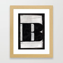 - B - Framed Art Print