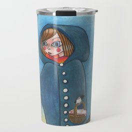 The little blue ridding hood Travel Mug