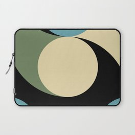 Two comets, one blue with a white tail, the other's white with a green tail. Laptop Sleeve