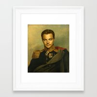 replaceface Framed Art Prints featuring Leonardo Dicaprio - replaceface by replaceface