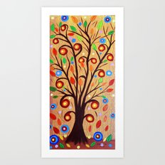 Abstract tree 4 Art Print
