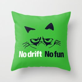 No drift No fun v7 HQvector Throw Pillow