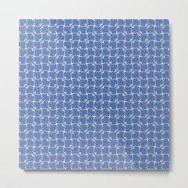 Blue cell endless pattern   Metal Print