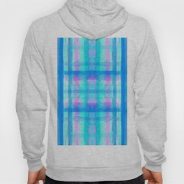 Turquoise and Pink Abstract Plaid Design 747 Hoody