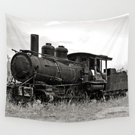 Vintage Steam Engine Wall Tapestry