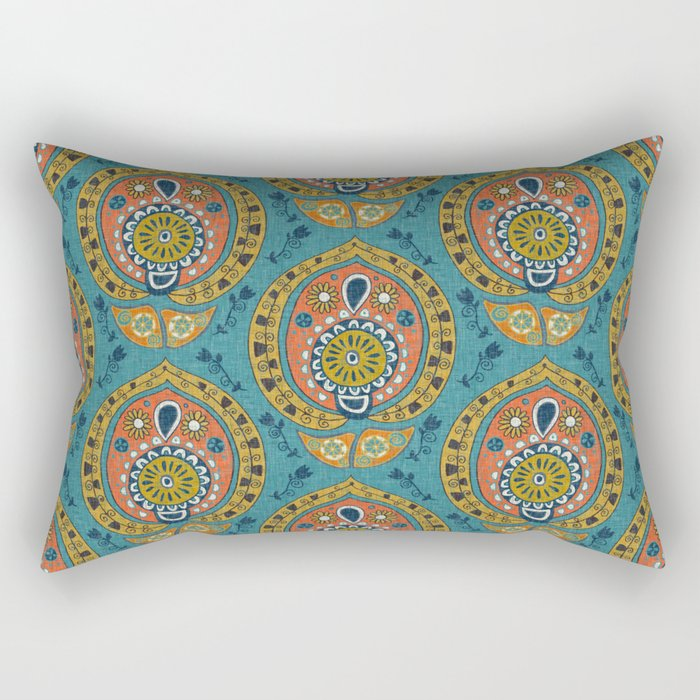 safa blue Rectangular Pillow