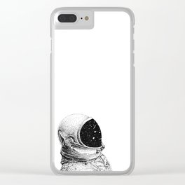 Space Oddity Clear iPhone Case