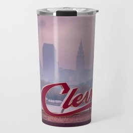 Homesick - Cleveland Skyline Travel Mug