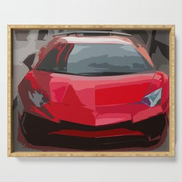 Red Aventador SV Coupe Serving Tray